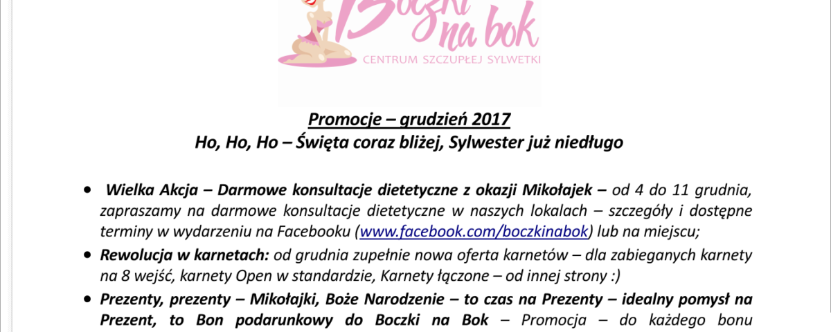 promocje grudzien 2017